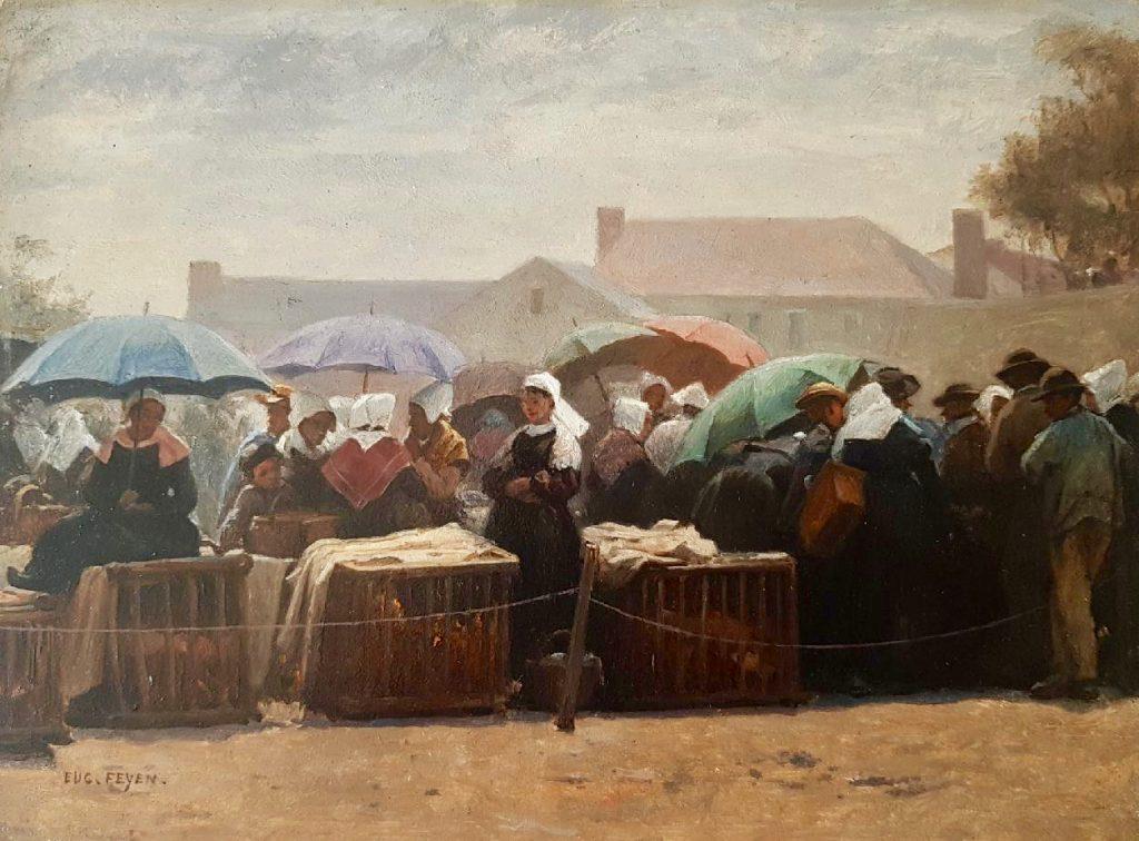 scene de marché Eugène feyen