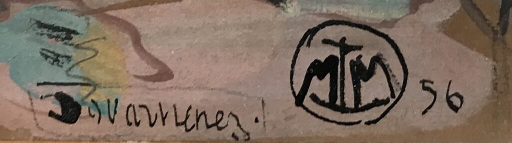 Rare monogramme de Mathurin Meheut