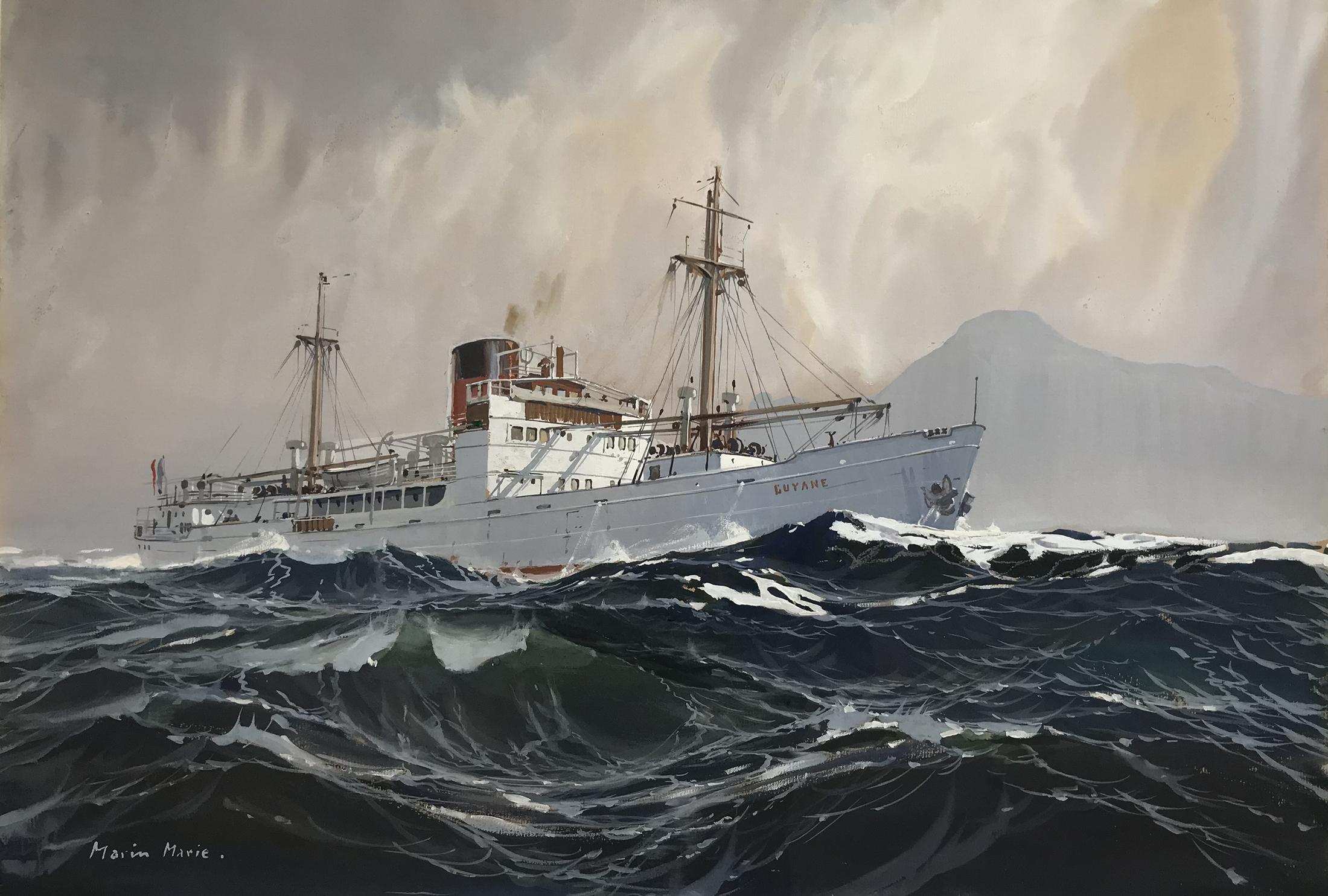 Marin Marie Le Cargo Guyane par mer forte