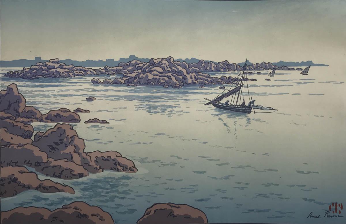 L'entrée Du Port De Ploumanac'h 1916 - Henri Riviere